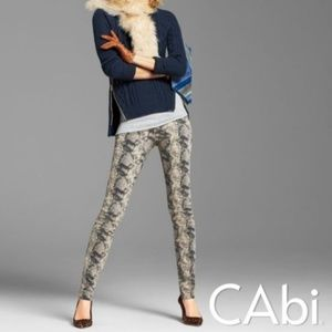 CAbi Diamondback Super Skinny Snake Print Jeans 2